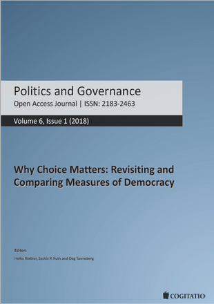 Publication: Lauth, Hans-Joachim and Oliver Schlenkrich. 2018. Making Trade-Offs Visible: Theoretical and Methodological Considerations about the Relationship between Dimensions and Institutions of Democracy and Empirical Findings. Politics and Governance 6 (1): 78–91.